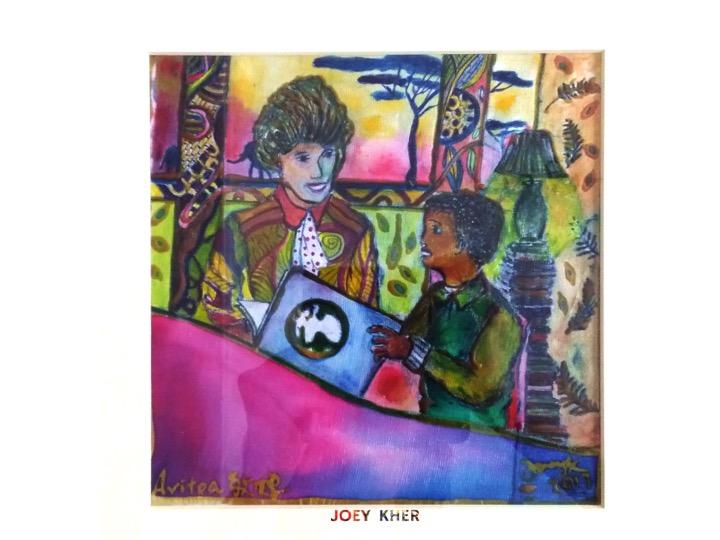 Joey Kher Artist Batik Painting Avitoa africa education