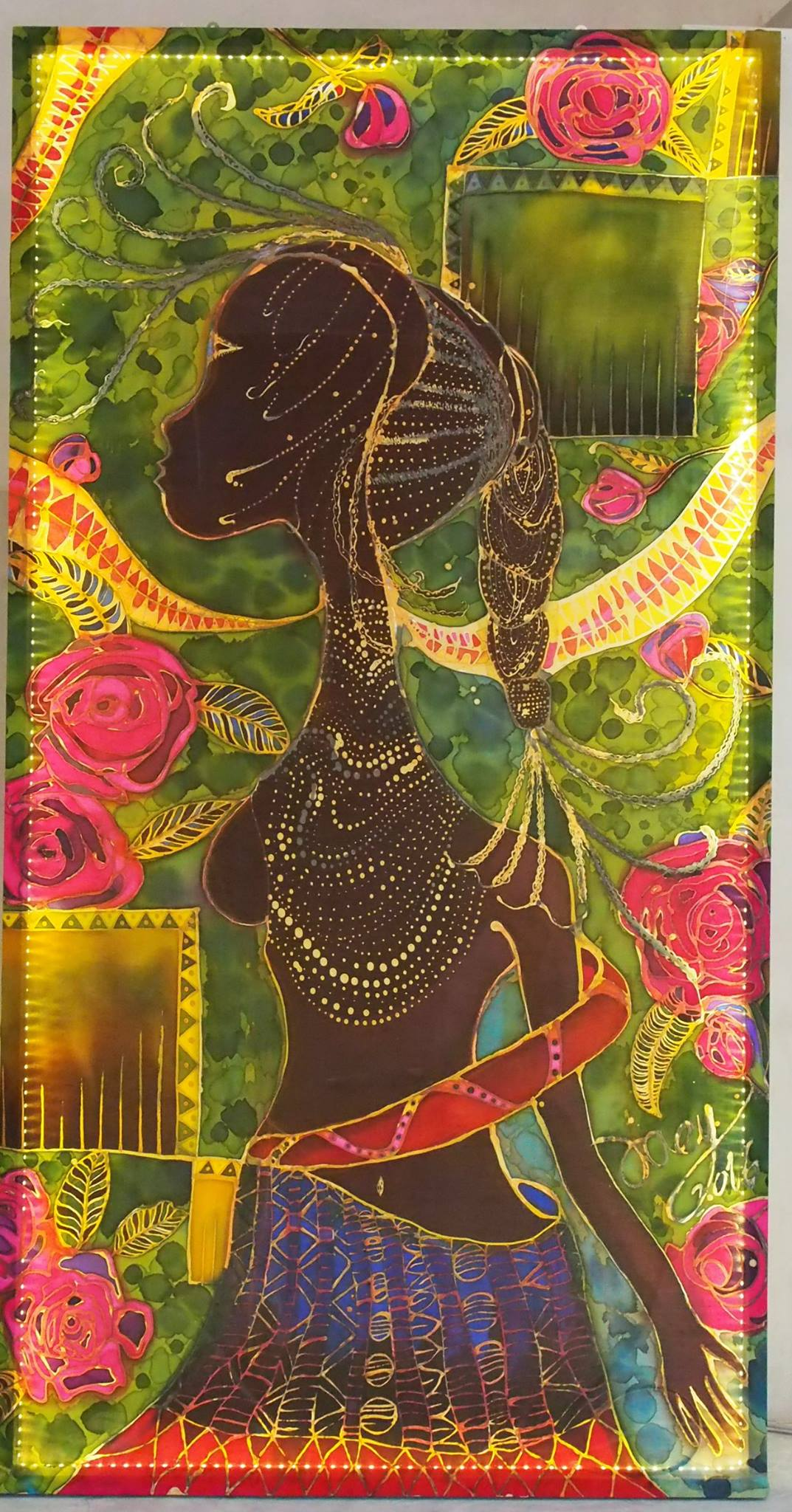 Joey Kher Batik Aotu Exhibition Black Beauty no.3 Artwork for Music Festival Batu Pahat (1)