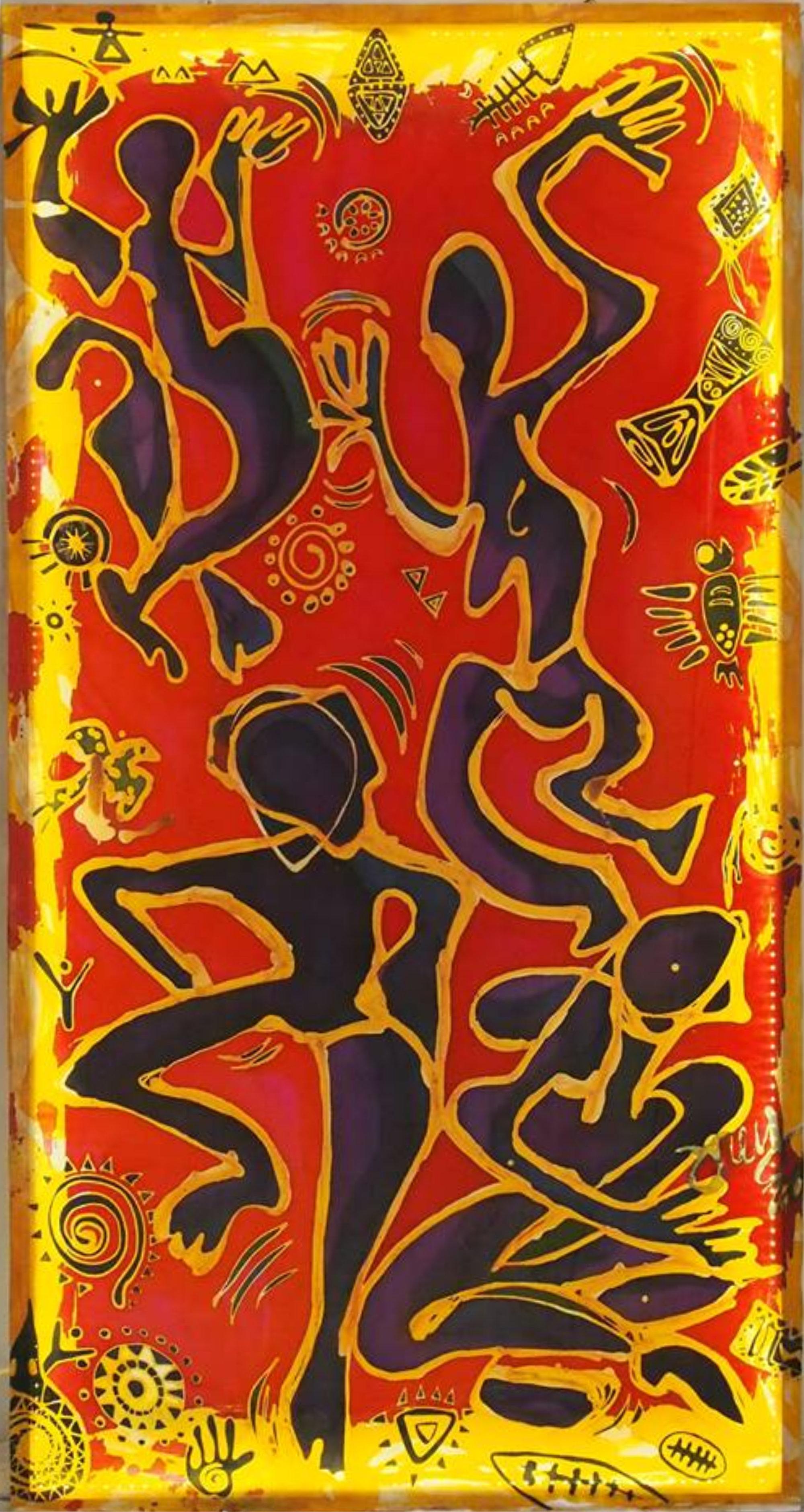 Joey Kher Batik AotuExhibition Africa Dance Artwork for Music Festival Batu Pahat Johor Malaysia Art