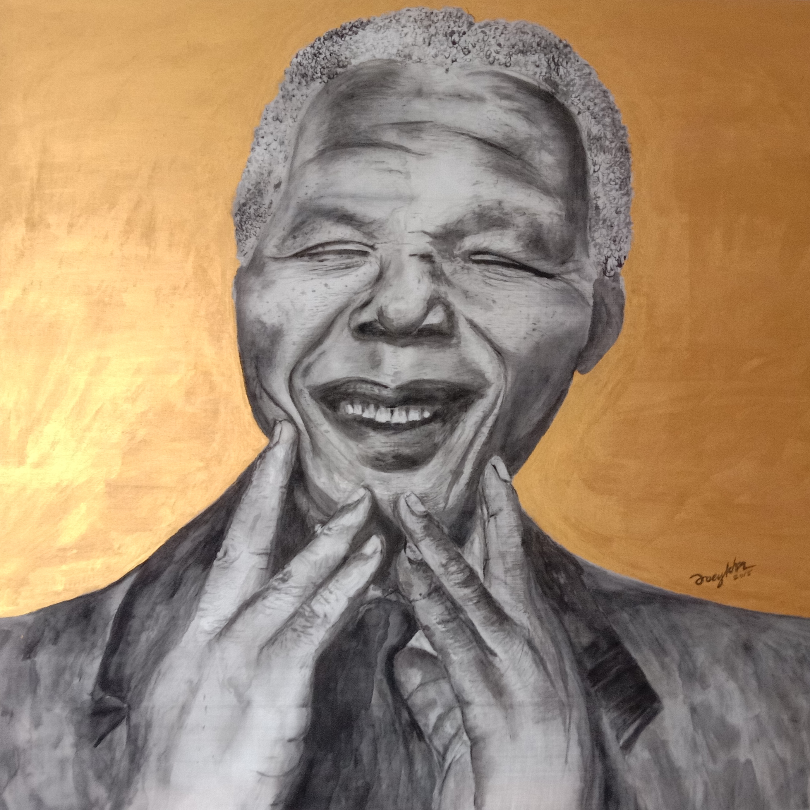 Nelson Mandela Mixed Media by Joey Kher