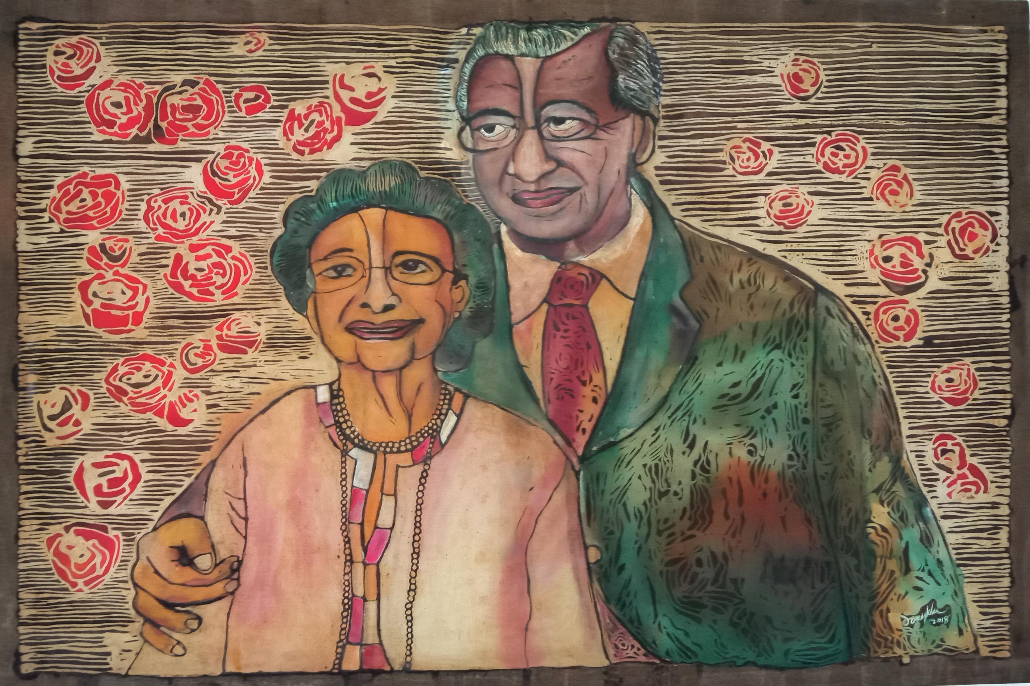 Tun Dr. Siti Hasmah & Tun Mahathir by Joey Kher